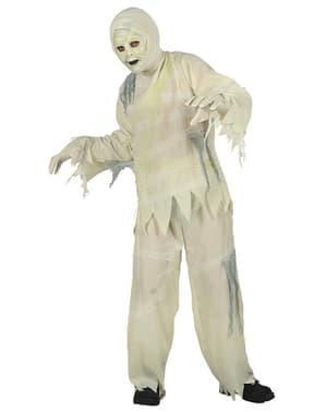 Fato de múmia zombie para menino