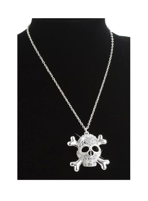 Collar pirata luz de calavera