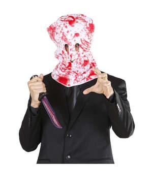 Máscara de homem ensanguentado