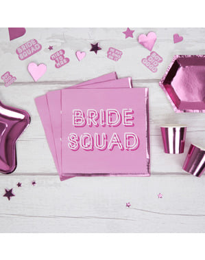 16 paper napkins in pin (33x33 cm) - Bride Squad