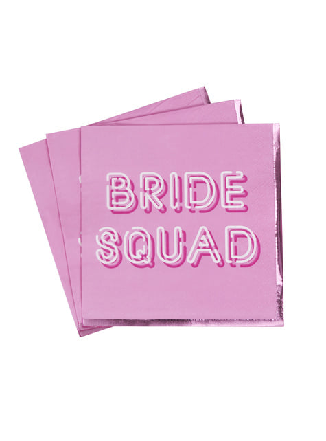 16 paper napkins in pin (33x33 cm) - Bride Squad