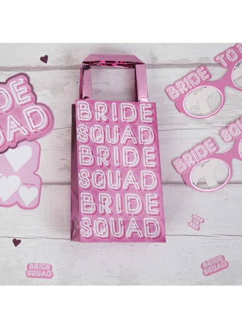 5 buste di carta rosa - Bride Squad
