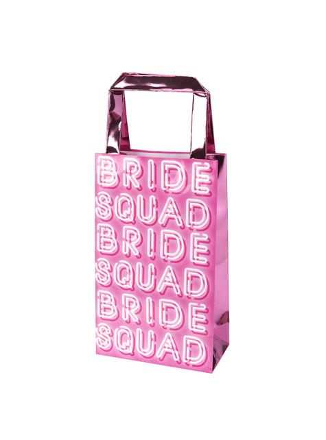 5 sacos de papel cor-de-rosa - Bride Squad