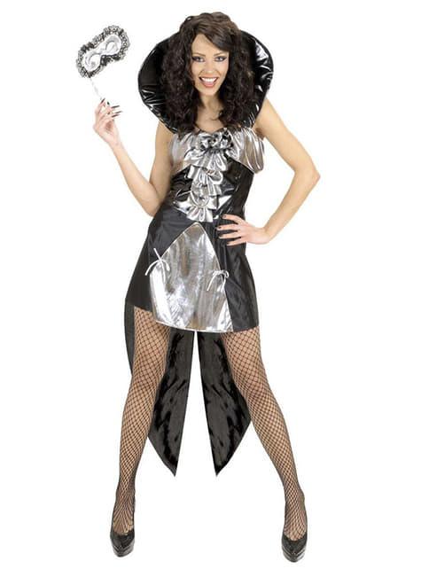 Zilveren gothic koningin kostuum voor vrouw