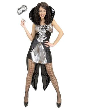 Sølv gotisk dronning kostyme til dame
