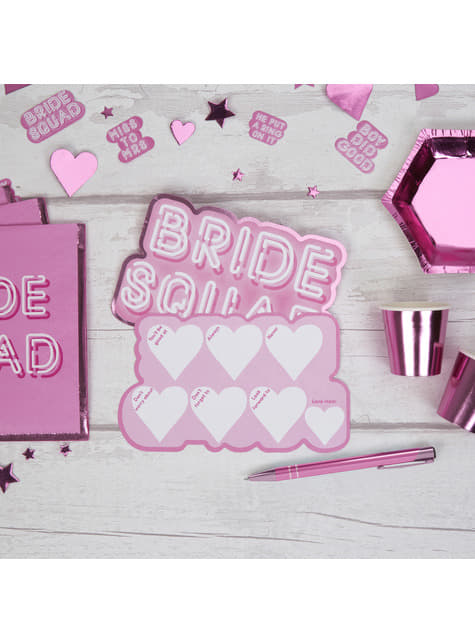 10 cartes amusantes en carton - Bride Squad