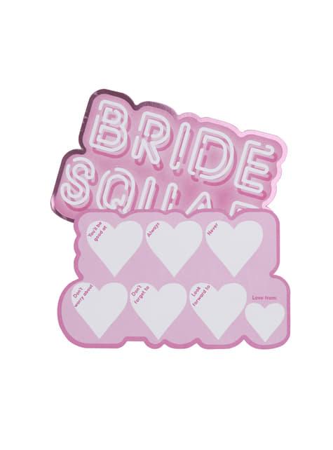 10 tarjetas divertidas de papel - Bride Squad