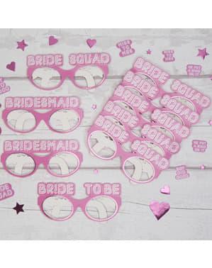 ピンク - 花嫁の分隊で8紙コップのセット
