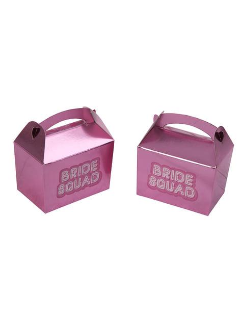 10 pinkkä paperista minilahjarasiaa – Bride Squad