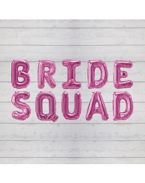 """Pinkki """"Bride Squad"""" folioilmapallo – Bride Squad"""