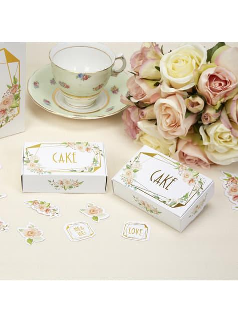10 cajas para tarta de papel - Geo Floral
