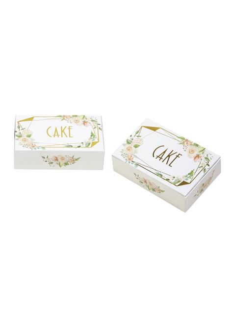 10 boîtes pour gâteaux en carton - Geo Floral