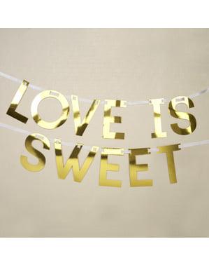 Love is sweet guirlande i guld - Geo Floral