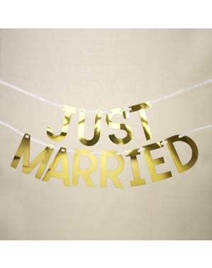 Just Married garland - Geo Floral