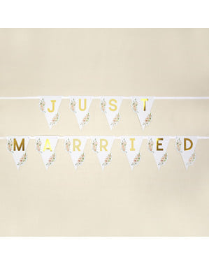 Just Married bunting - Geo Floral