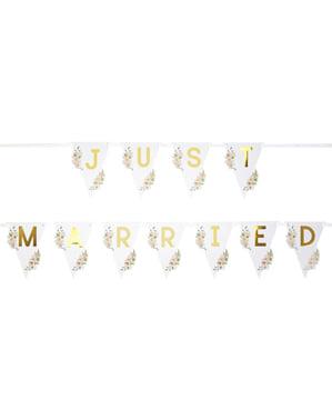 Banderoll Just Married  - Geo Floral