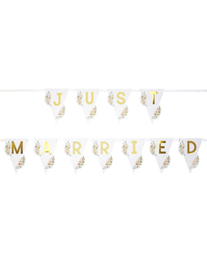 Guirlande Just Married  - Geo Floral