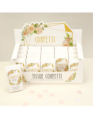 20 mini confettien doosjes - Geo Floral