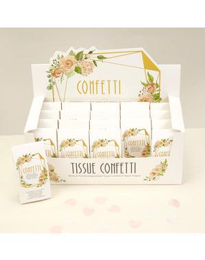 Zestaw 20 mini pudełka konfetti – Geo Floral