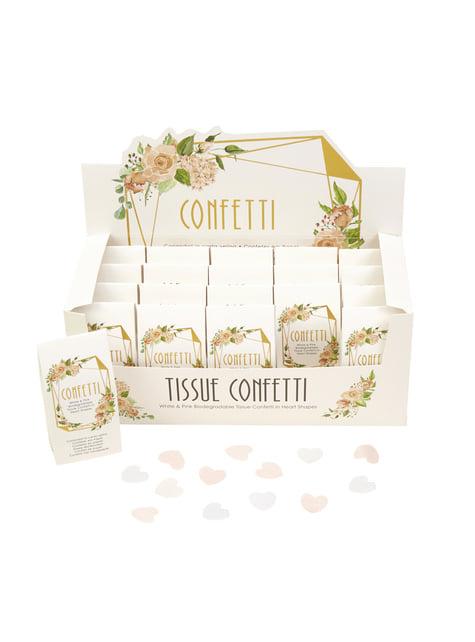 20 boîtes à confettis - Geo Floral