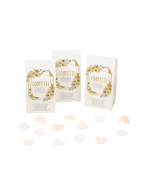 20 cajitas de confeti - Geo Floral