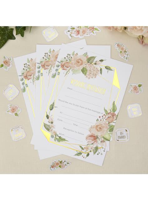10 paperikutsua päivähäihin – Geo Floral