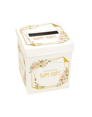 Paper box of good wishes - Geo Floral
