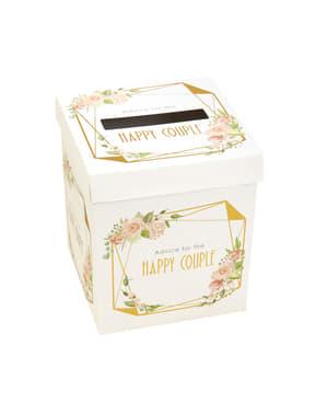 Urne mariage en carton - Geo Floral