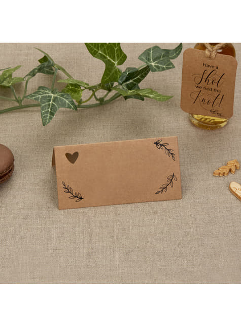 25 cartes marque-place  - Hearts & Krafts