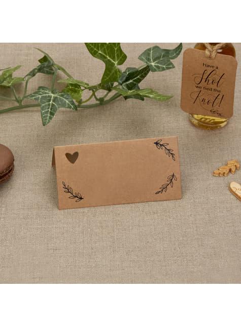 Conjunto de 25 cartões para sentar na mesa  - Hearts & Krafts