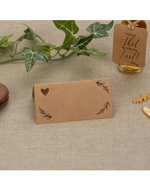 Sada 25 papírových kartiček zasedací pořádek - Hearts & Krafts