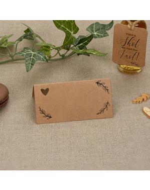 Zestaw 25 wizytówki na stół – Hearts & Krafts