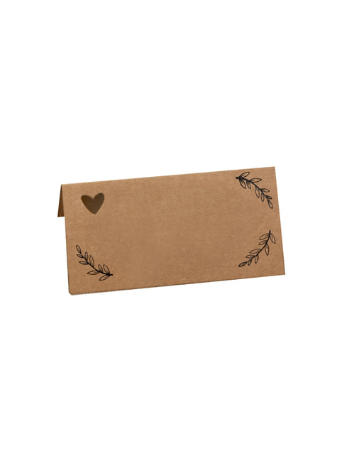 Set of 25 table setting cards - Hearts & Krafts