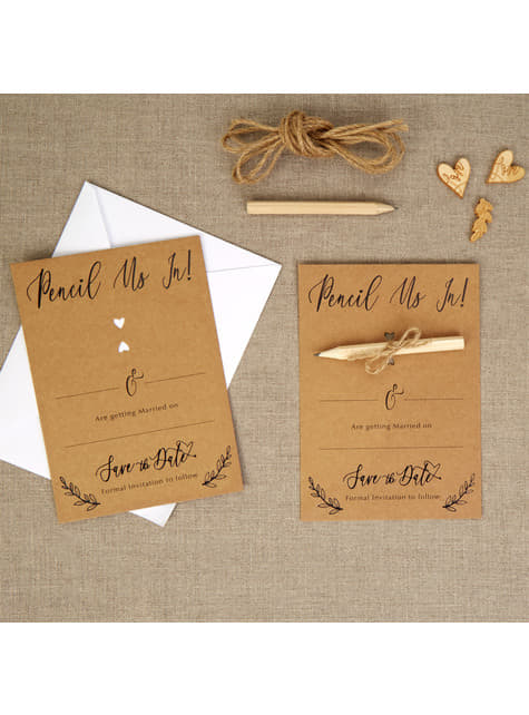 10 invitations cadeau en carton - Hearts & Krafts