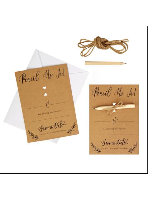 10 invitaciones de regalo de papel - Hearts & Krafts - para tus fiestas