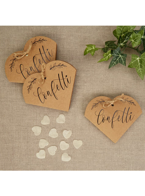 20 gift confetti boxes - Hearts & Krafts
