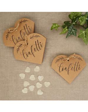 20 cajas de confeti de regalo - Hearts & Krafts