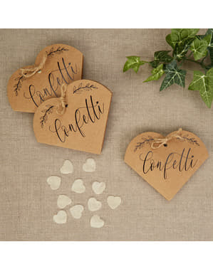 Set 20 kotak confetti hadiah - Hati & Kerajinan