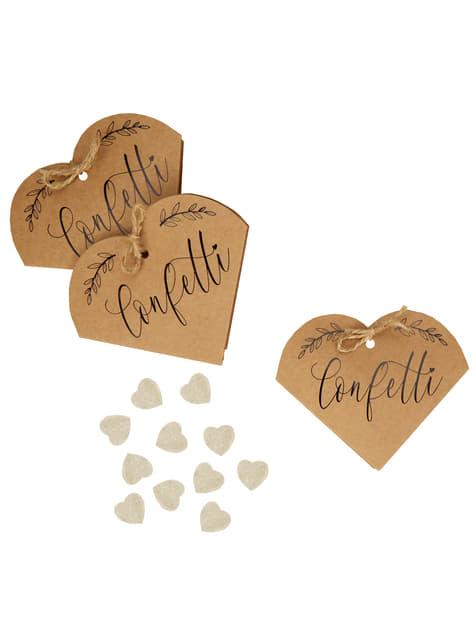 20 cajas de confeti de regalo - Hearts & Krafts - barato
