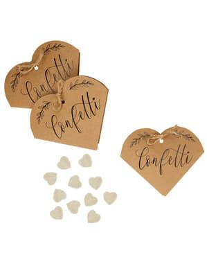 20 подарункові коробки конфетті - Серця і Krafts
