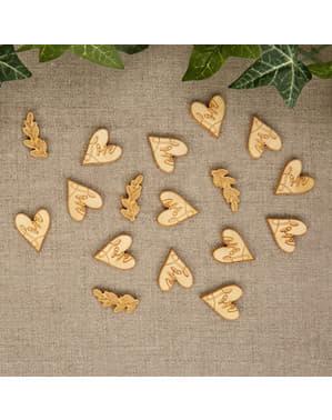 Papieren tafel confetti - Hartjes & Handenarbeid