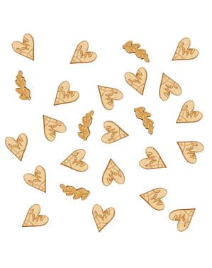 Tischkonfetti aus Papier - Hearts & Krafts