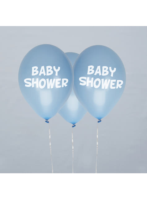 8 globos azules Baby Shower(30 cm) - Blue Star