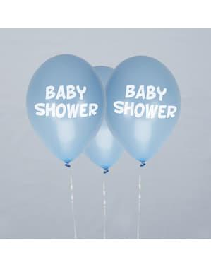 "8 сини балона ""Baby Shower""(30cm)– Blue Star"