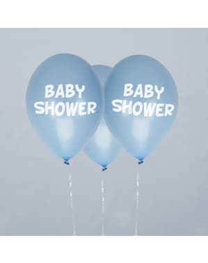 "Set 8 ""Pancuran Bayi"" belon getah berwarna biru - Little Star Blue"