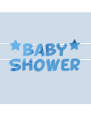"Синя гирлянда ""Baby Shower""– Blue Star"