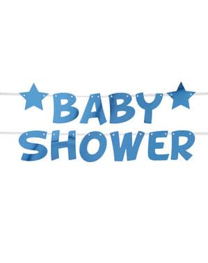 "Niebieska girlanda ""Baby Shower"" - Little Star Blue"