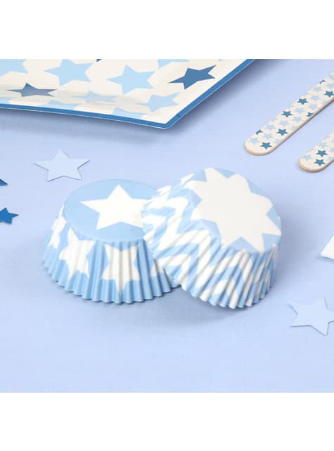 100 bases para cupcakes - Blue Star