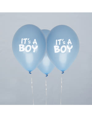 9 Μπλε Μπαλόνια (30 cm) - Blue Star