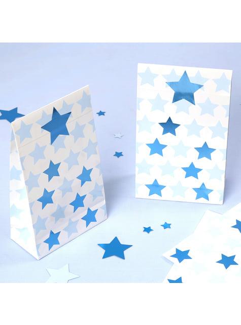 5 buste da regalo di carta - Little Star Blue